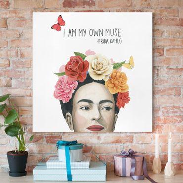 Leinwandbild - Fridas Gedanken - Muse - Quadrat 1:1