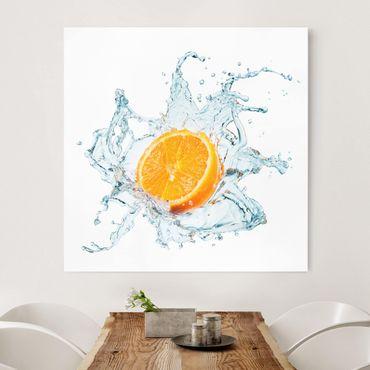 Leinwandbild - Frische Orange - Quadrat 1:1