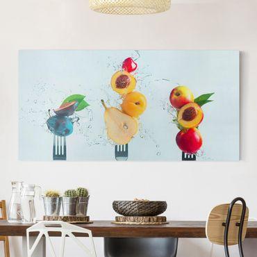 Leinwandbild - Fruchtsalat - Querformat 2:1