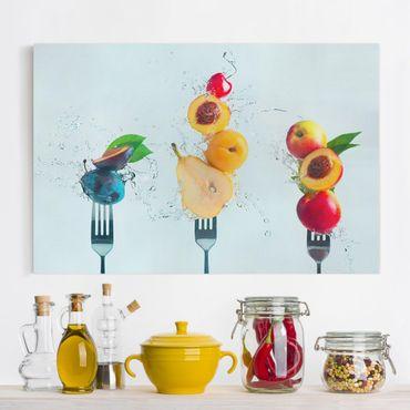 Leinwandbild - Fruchtsalat - Querformat 3:2