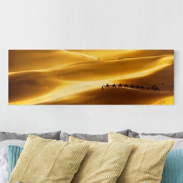 Leinwandbild - Golden Dunes - Panorama Quer