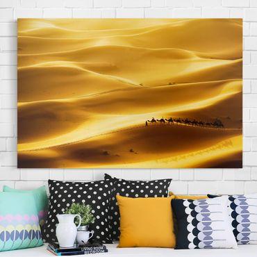 Leinwandbild - Golden Dunes - Quer 3:2