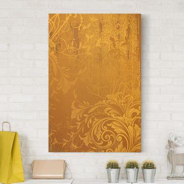 Leinwandbild - Goldene Flora - Hoch 2:3