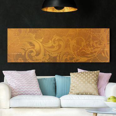 Leinwandbild - Goldener Barock - Panorama Quer