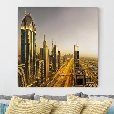 Leinwandbild - Goldenes Dubai - Quadrat 1:1