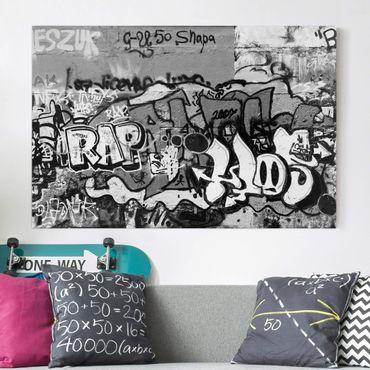 Leinwandbild Schwarz-Weiß - Graffiti Art - Quer 3:2
