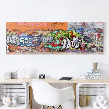 Leinwandbild - Graffiti - Panorama Quer