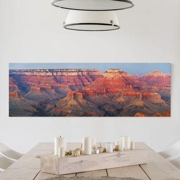 Leinwandbild - Grand Canyon nach dem Sonnenuntergang - Panorama Quer