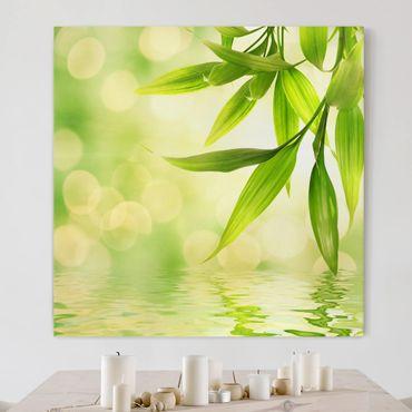 Leinwandbild - Green Ambiance I - Quadrat 1:1
