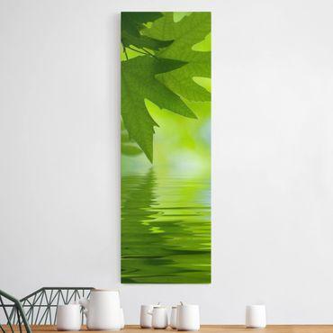Leinwandbild - Green Ambiance III - Panorama Hoch