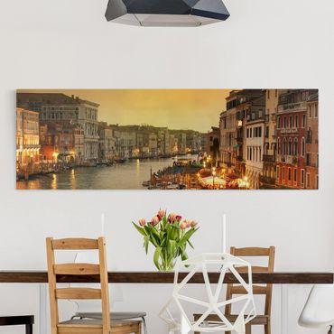Leinwandbild - Großer Kanal von Venedig - Panorama Quer