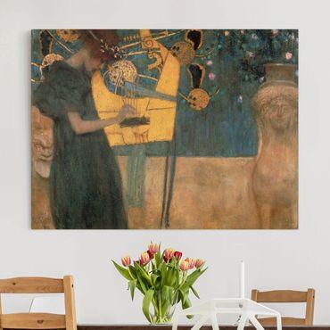 Leinwandbild Gustav Klimt - Kunstdruck Die Musik - Quer 4:3 -Jugendstil