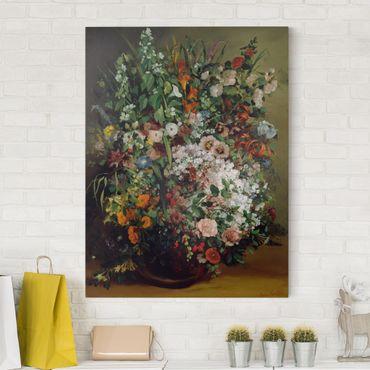 Leinwandbild - Gustave Courbet - Blumenstrauß in einer Vase - Hoch 3:4