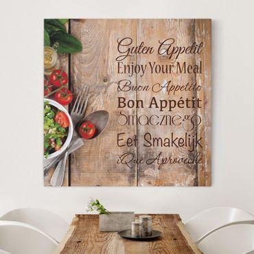 Leinwandbild - Guten Appetit - Quadrat 1:1