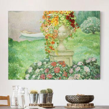 Leinwandbild - Henri Lebasque - Der Garten - Quer 4:3