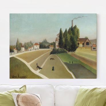 Leinwandbild - Henri Rousseau - Landschaft mit Fabrik - Quer 4:3