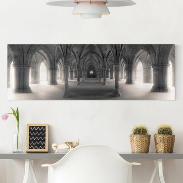 Leinwandbild - Historische Säulen - Panorama Quer