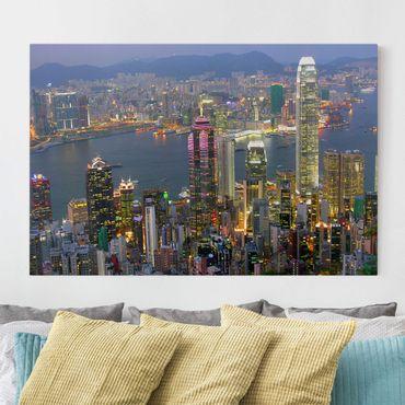 Leinwandbild - Hongkong Skyline - Quer 3:2