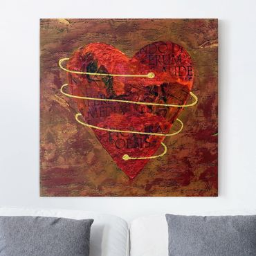 Leinwandbild - I got your heart - Quadrat 1:1