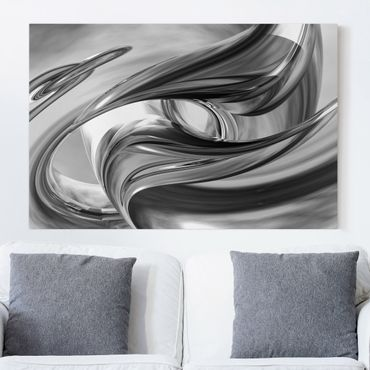 Leinwandbild Schwarz-Weiß - Illusionary II - Quer 3:2
