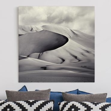 Leinwandbild - Im Süden der Sahara - Quadrat 1:1