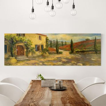 Leinwandbild - Italienische Landschaft - Toskana - Panorama 1:3