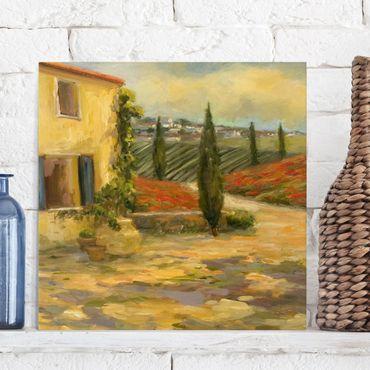 Leinwandbild - Italienische Landschaft - Toskana - Quadrat 1:1