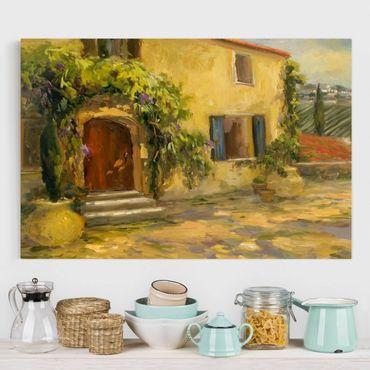 Leinwandbild - Italienische Landschaft - Toskana - Querformat 2:3