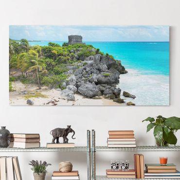 Leinwandbild - Karibikküste Tulum Ruinen - Quer 2:1