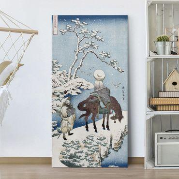 Leinwandbild - Katsushika Hokusai - Der chinesische Dichter Su Dongpo - Hoch 1:2