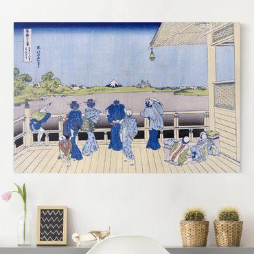 Leinwandbild - Katsushika Hokusai - Die Sazai Halle des Fünf-Hundert-Rakanji Tempel - Quer 3:2