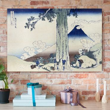 Leinwandbild - Katsushika Hokusai - Mishima Pass in der Provinz Kai - Quer 3:2