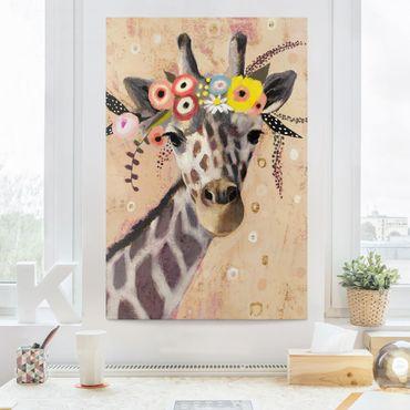 Leinwandbild - Klimt Giraffe - Hochformat 3:2