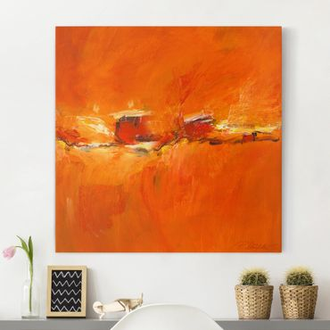 Leinwandbild - Komposition in Orange - Quadrat 1:1