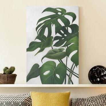 Leinwandbild - Lieblingspflanzen - Monstera - Hochformat 3:2