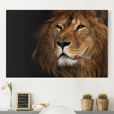 Leinwandbild - Löwenblick - Quer 3:2