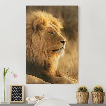 Leinwandbild - Löwenkönig - Hoch 2:3