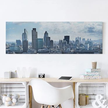 Leinwandbild - London Skyline - Panorama Quer