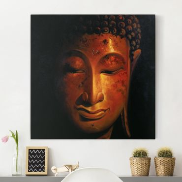 Leinwandbild - Madras Buddha - Quadrat 1:1