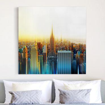 Leinwandbild - Manhattan Abstrakt - Quadrat 1:1