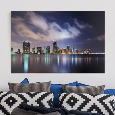 Leinwandbild - Miami bei Nacht - Quer 3:2