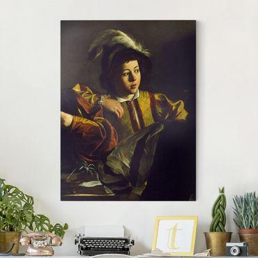 Leinwandbild - Michelangelo Merisi da Caravaggio - Die Wahrsagerin - Quer 4:3
