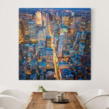 Leinwandbild - Midtown Manhattan - Quadrat 1:1