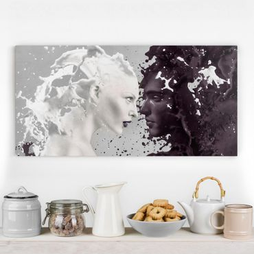 Leinwandbild - Milk & Coffee - Quer 2:1