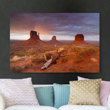 Leinwandbild - Monument Valley bei Sonnenuntergang - Quer 3:2