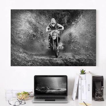 Leinwandbild - Motocross im Schlamm - Quer 3:2