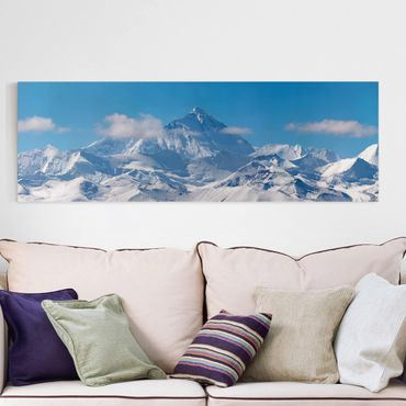 Leinwandbild - Mount Everest - Panorama Quer