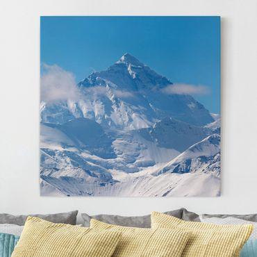 Leinwandbild - Mount Everest - Quadrat 1:1