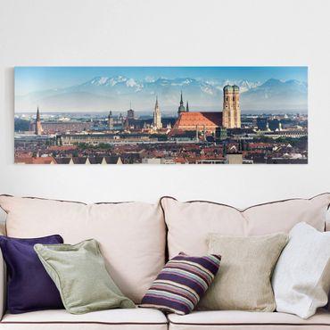 Leinwandbild München - Panoramabild Quer