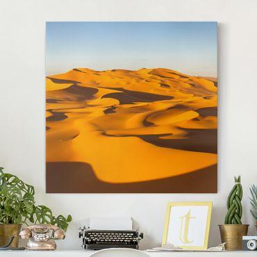 Leinwandbild - Murzuq Desert In Libya - Quadrat 1:1
